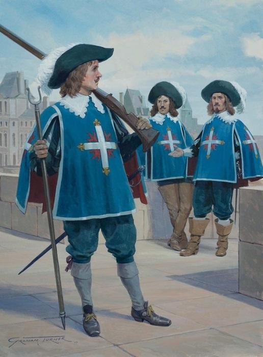 Мушкетёры короля должны были отлично стрелять, отлично фехтовать и быть абсолютно бесстрашными.